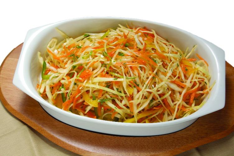 Рецепт салата с капустой и морковью с уксусом